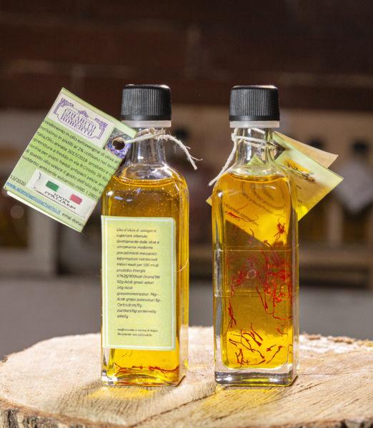 olio aromatizato allo zafferano